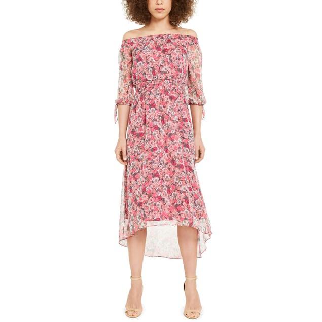 INC International Concepts Wo Floral Off-The-Shoulder Maxi Dress Medium