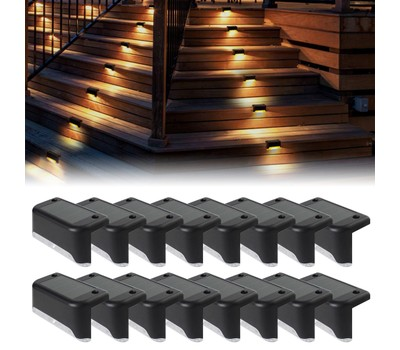 16 PCS Solar Deck Lights Outdoor Waterproof Step Lights Fence Stairs Yard Was: $119.99 Now: $31.99.
