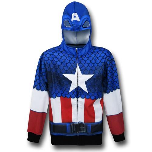 Captain America Lightweight Sublimated Costume Hoodie