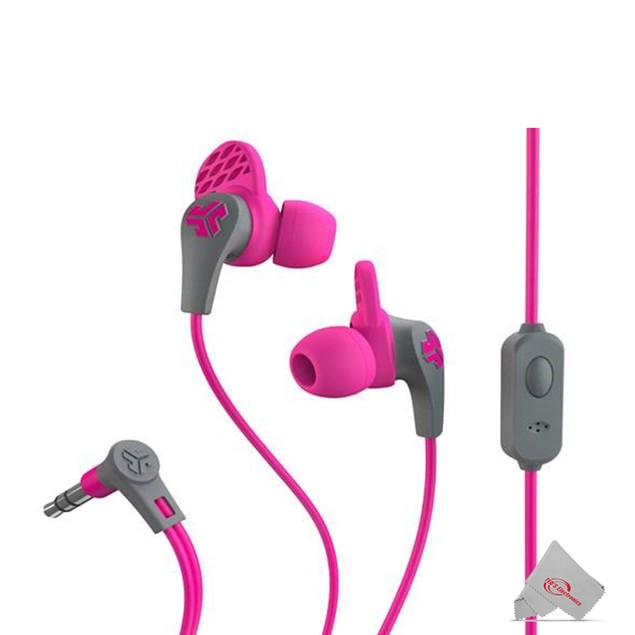 JLAB Jbuds Pro Guaranteed Fit Premium Earbuds with Universal Mic + Track Control Rocks with both Android and Apple