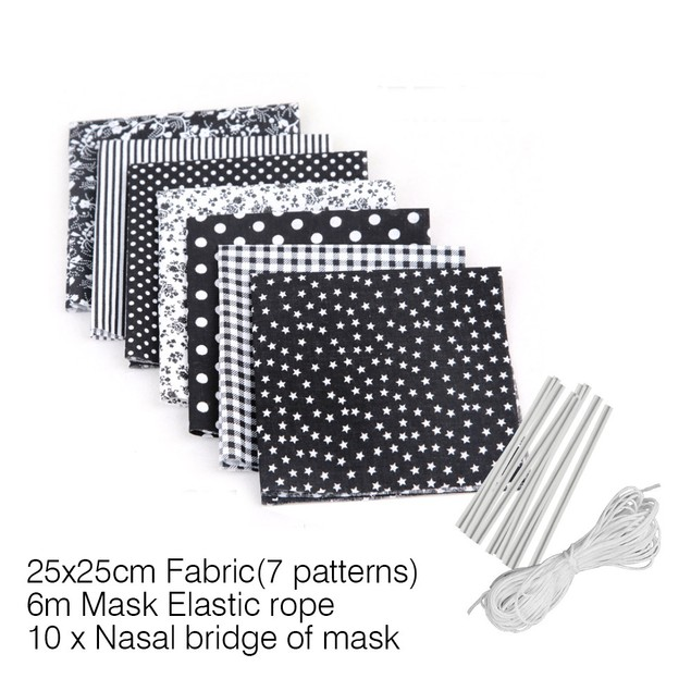 Self-Made Dust Mask Material Bag With Elastic Ear Cord