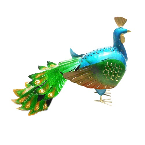 D-Art collection Peacock Home Accent Iron Lantern