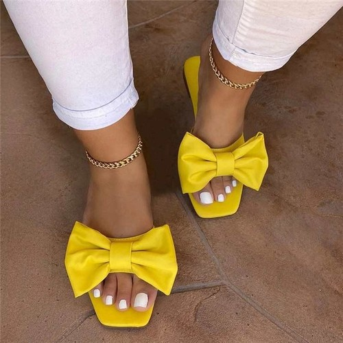 Women's Casual Slippers With Flat Bow