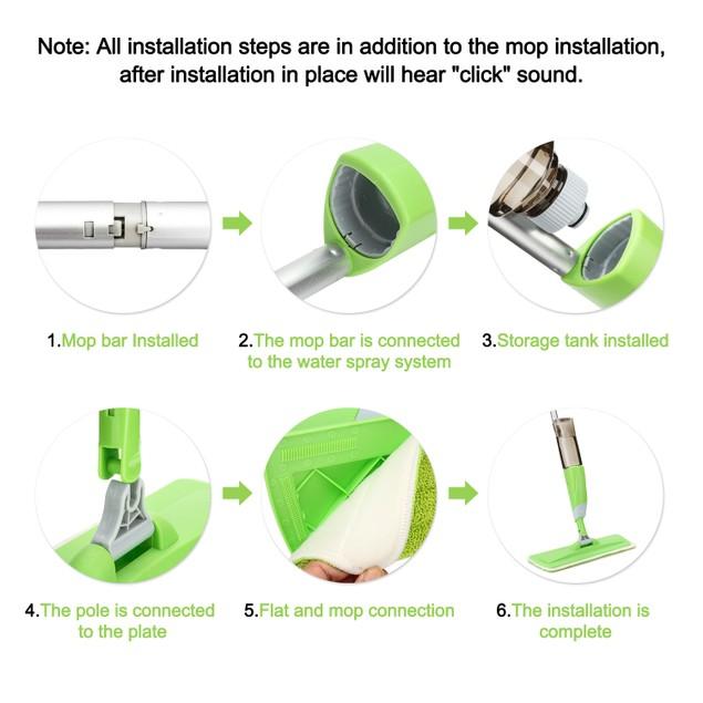 360 Degree Spray Mop Microfiber Floor Spray Cleaner Starter Kit