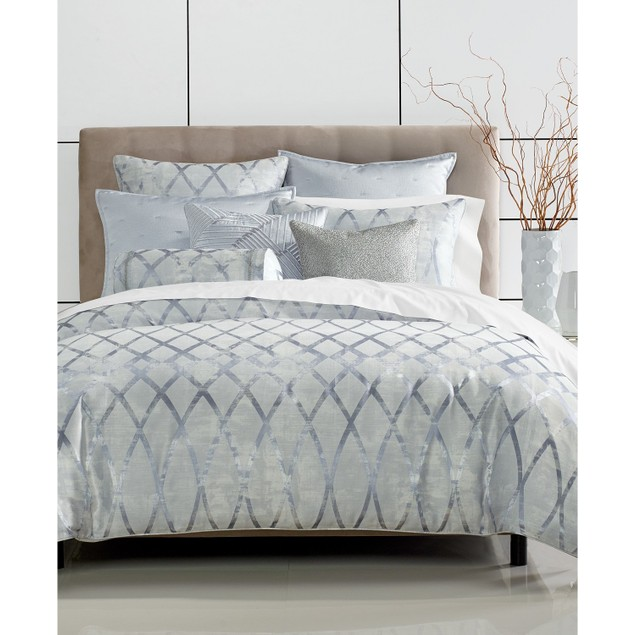 Hotel Collection Dimensional Jacquard Pattern Comforter, Size: Full/Queen,