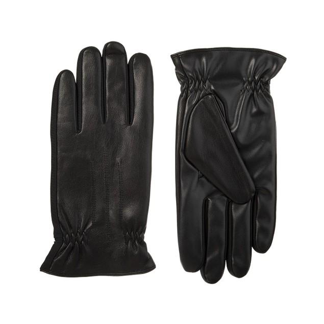 Isotoner Signature Sleekheat Faux Nappa Touchscreen Gloves Black XL