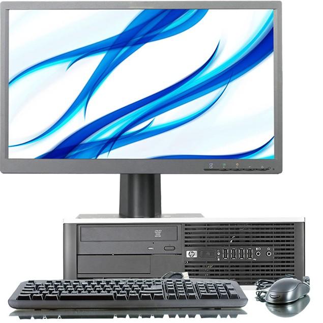 """HP 8300 Desktop Intel i5 8GB 120GB SSD Windows 10 Professional 22"""" Monitor"""