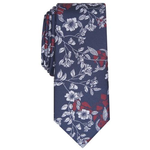 Bar III Men's Poplar Skinny Floral Tie Red Size Regular
