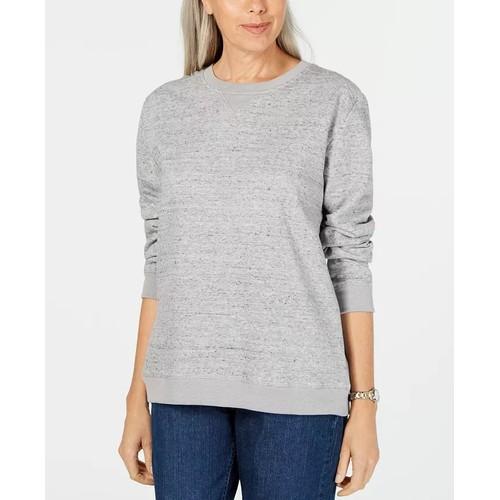 Karen Scott Women's Sport Fleece Sweatshirt Gray Size X-Large