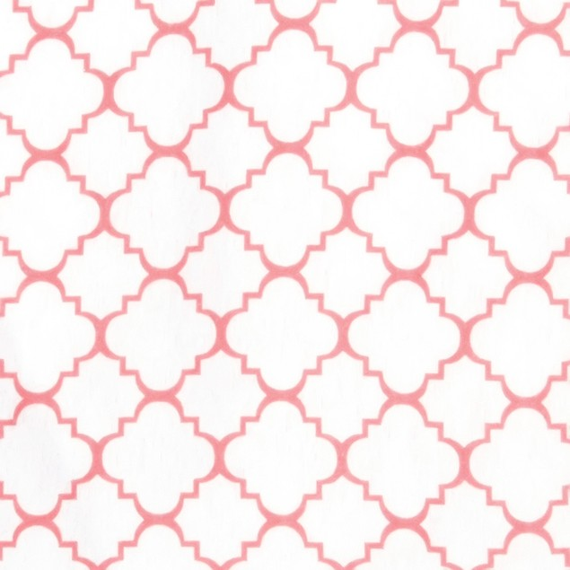 Trend-Lab Coral Quatrefoil Flannel Fitted Crib Sheet