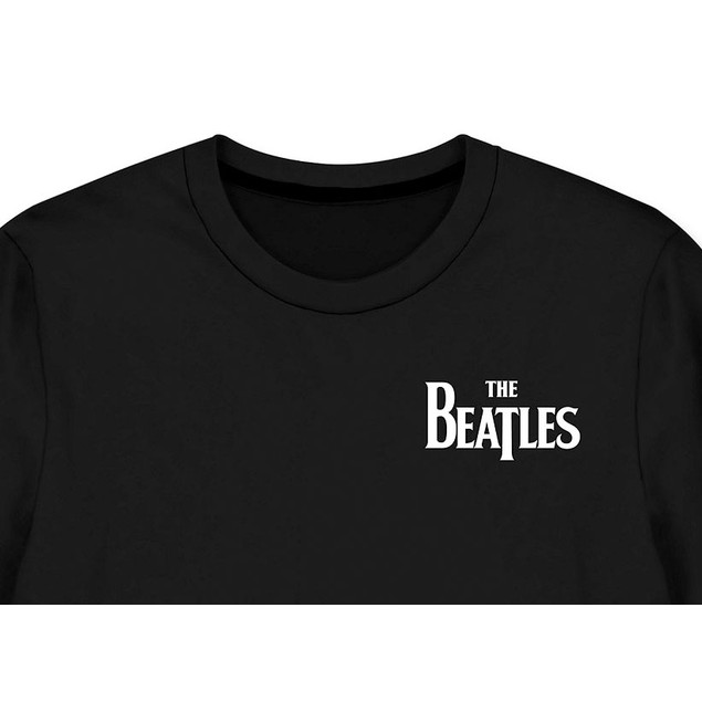 Hybrid Men's BeatlesLong-Sleeve Let It Be Band T-Shirt Black Size Medium