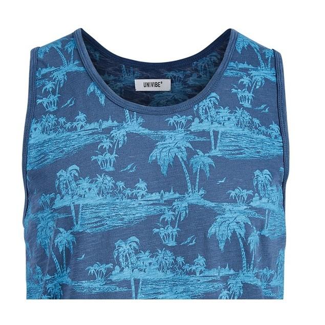 Beaumont Tropical Men's Tank Blue Size Large