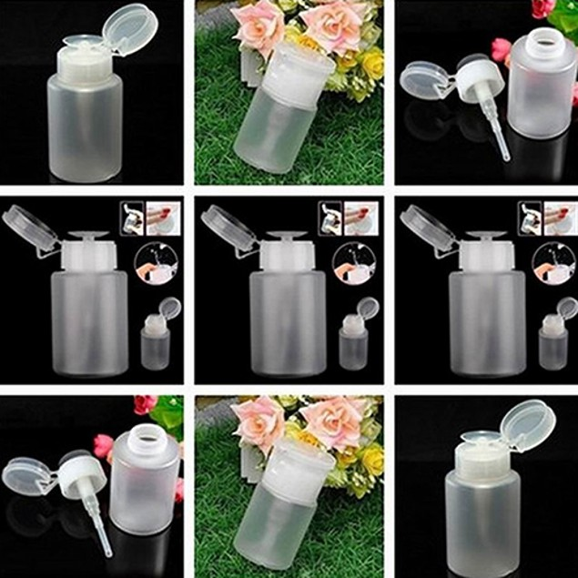 UV Gel Polish Remover Cleaner Storage Empty Bottle