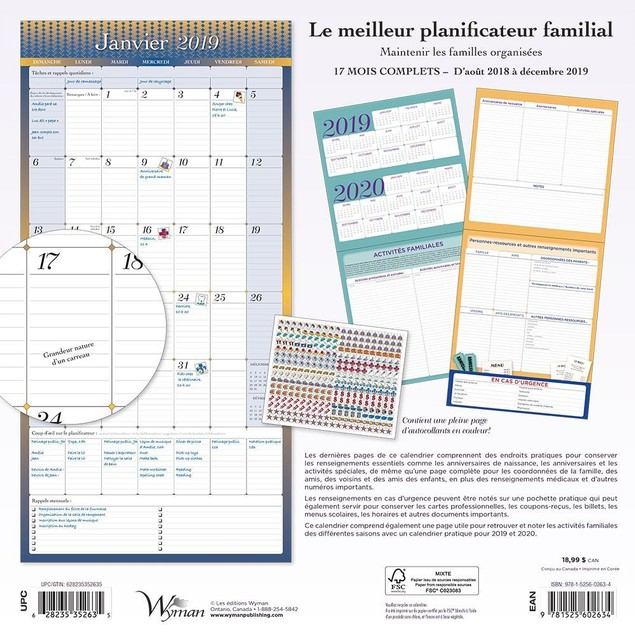 Ultimate Family Planner Wall Calendar, Family Organizer by Calendars