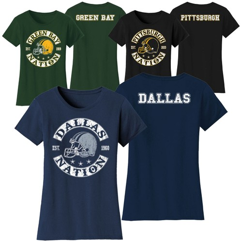 Women's Football Nation T-Shirts