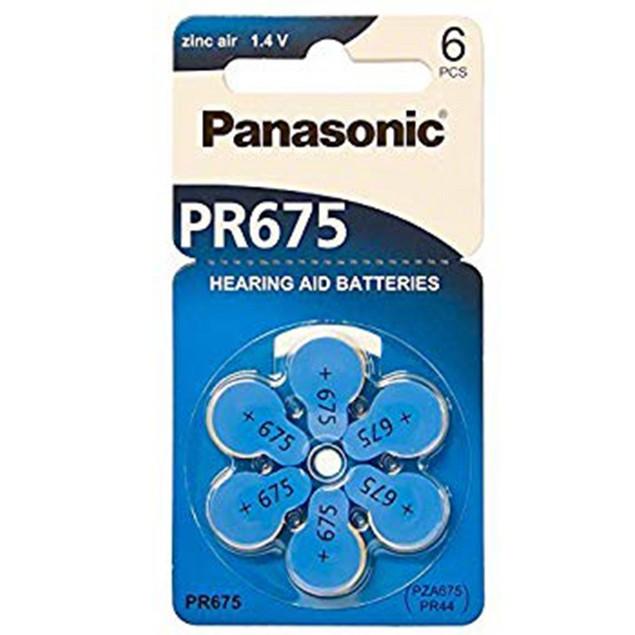 Panasonic Size 675 Zinc Air Hearing Aid Batteries (60 pack)