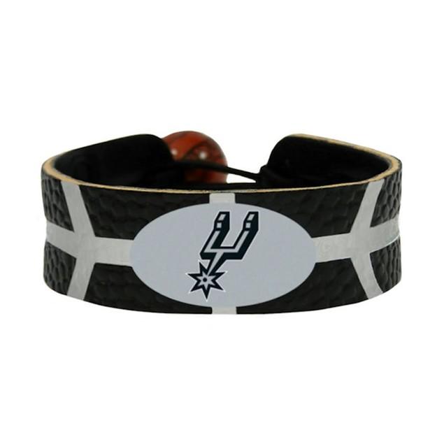 SAN Antonio Spurs Team Color NBA Gamewear Leather Basketball Bracelet