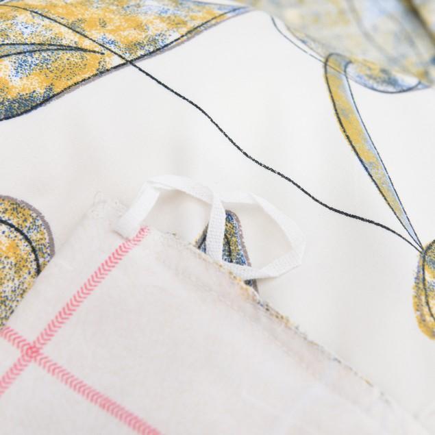 3 Piece Reversible Duvet Cover  - Floral Design - Queen Size