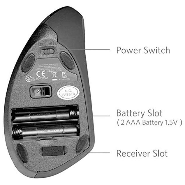 Vertical Wireless Mouse Advanced Ergonomic Design Reduces Wrist Fingers Pain