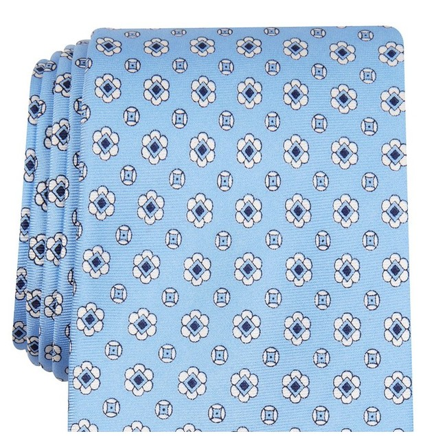 Club Room Men's Classic Neat Silk Tie Blue Size Regular