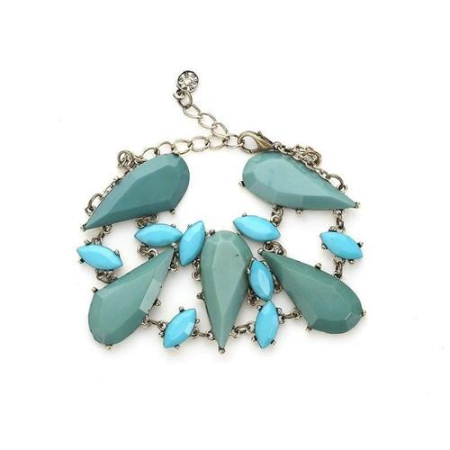 Novadab Dewdrop Pattern Multi-Crystal Classic Women Bracelet