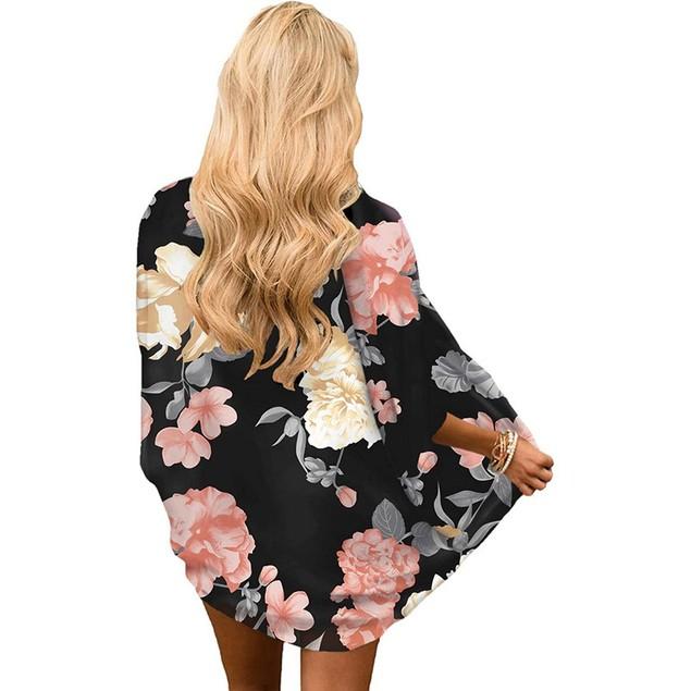 Women's Lightweight Kimono Cardigan Cover Up