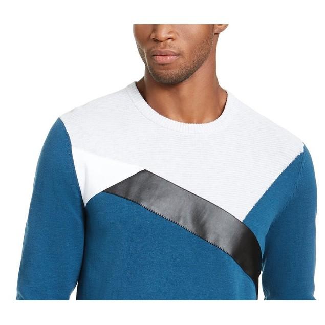 INC International Concepts Men's Colorblocked Sweater Blue Size XXX-Large