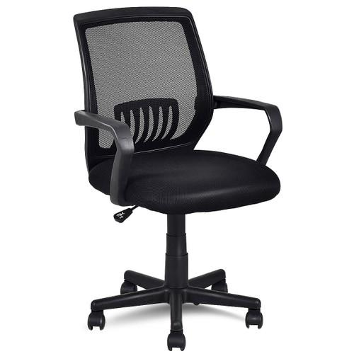 Costway Modern Ergonomic Mid-back Mesh Computer Office Chair Desk Task Task
