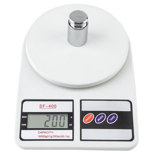 SF-400 10KG / 1g Kitchen Mail LCD Digital Scale White