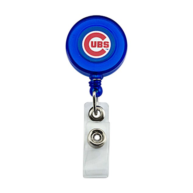 Chicago Cubs Retractable Badge Reel Id Ticket Clip MLB