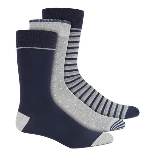 Perry Ellis Men's 3-Pk. Printed Socks Blue Size Regular