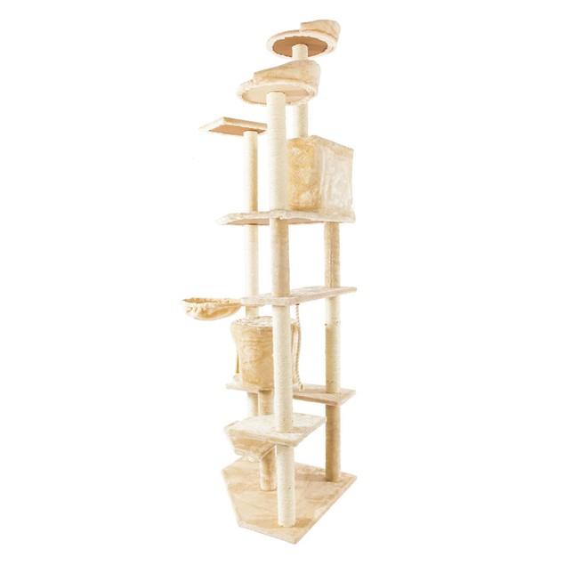 """80"""" Solid Cute Sisal Rope Plush Cat Climb Tree Cat Tower"""