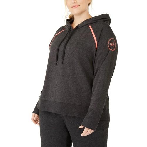 Calvin Klein Women's Performance Plus Raglan Sleeve Hoodie Black Size 2X