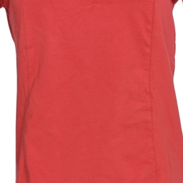 Bob Mackie Semi-Fitted Square Neckline Short Sleeve Knit Top, 3X, Geranium