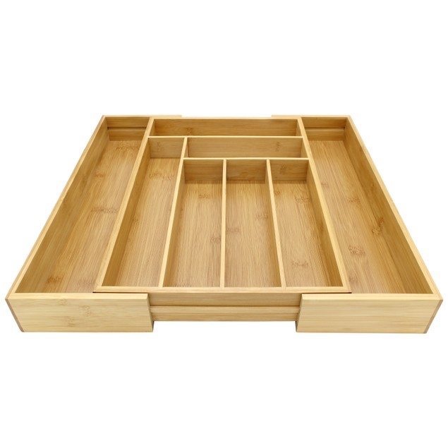 Bamboo Extending Cutlery Drawer | MandW