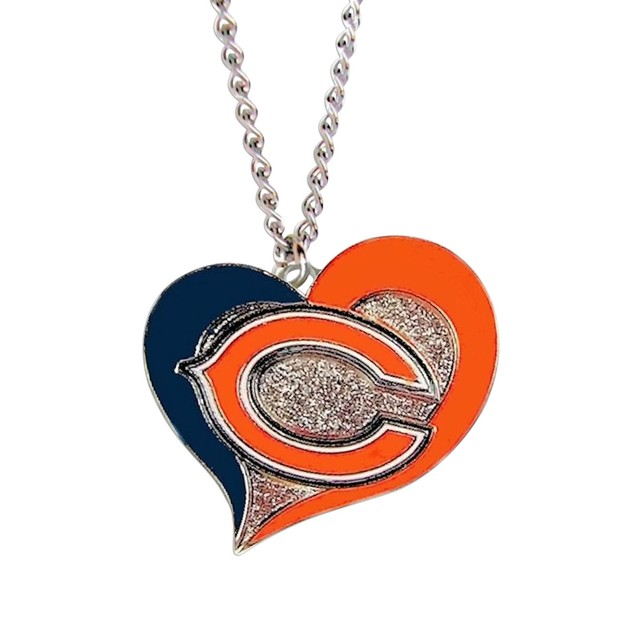 LA Los Angeles Chargers Sports Team Logo NFL Swirl Heart Necklace