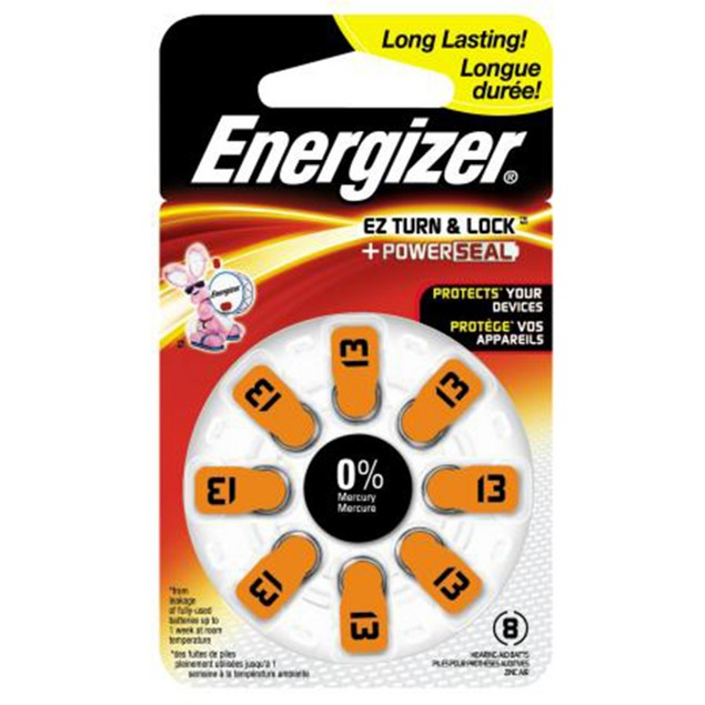 Energizer Size 13 MF Zinc Air Hearing Aid Batteries (48 pack)