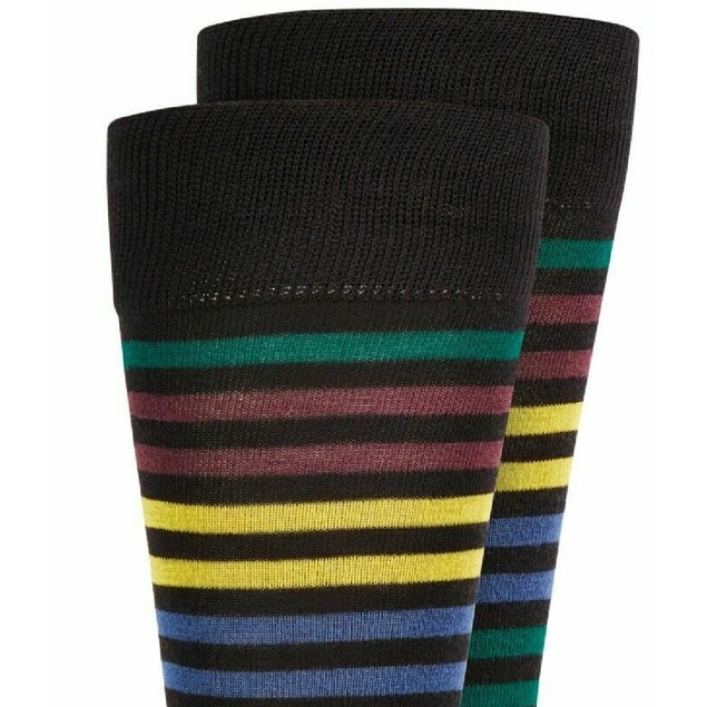Alfani Men's Striped Dress Socks Wine Size Regular
