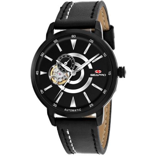 Seapro Men's Elliptic Black Dial Watch - SP0142