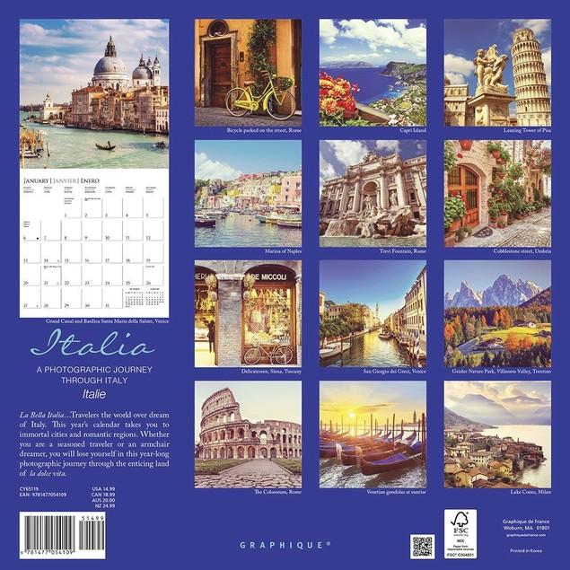 Italia Wall Calendar, Italy by Calendars