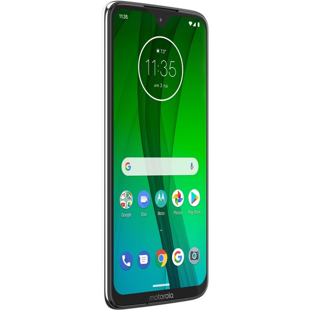 "Motorola Moto G7 64GB 6.2"" 4G LTE Unlocked, Clear White"