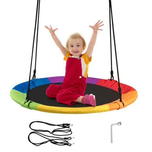 40'' Flying Saucer Tree Swing Indoor Outdoor Play
