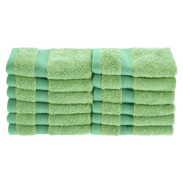 650 GSM  Bamboo Cotton 12-Piece Face Towel Set