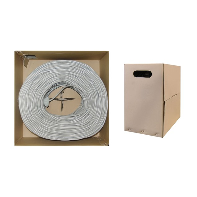 Bulk Shielded Cat5e Gray Ethernet Cable, 1000 foot
