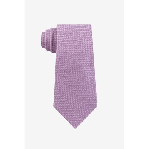 Michael Kors Men's Classic Abstract Textured Chevron Tie Pink