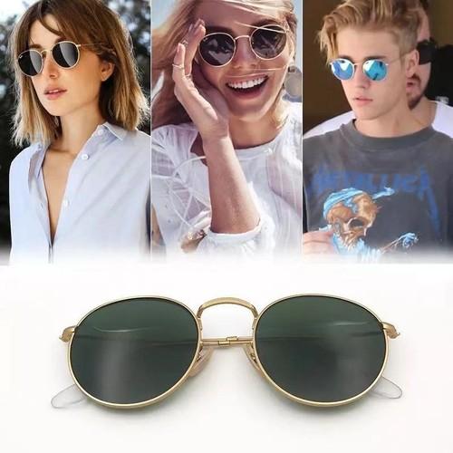 Unisex Retro Round Frame Sunglasses