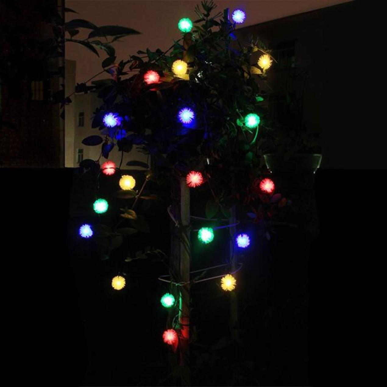 Solar Led Christmas Lights.20 Led Fairy String Solar Led Bulb Light For Wedding Xmas