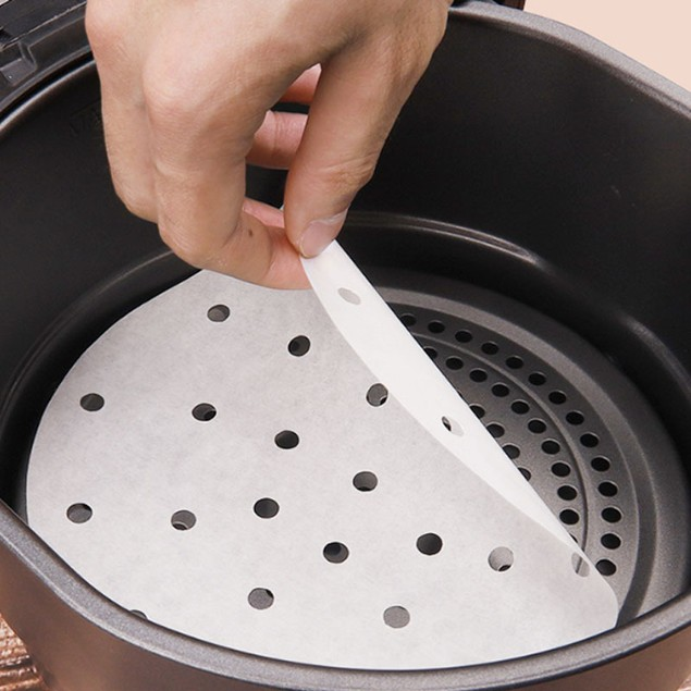 1x pack of 100 Non-Stick Air Fryer Liners - White
