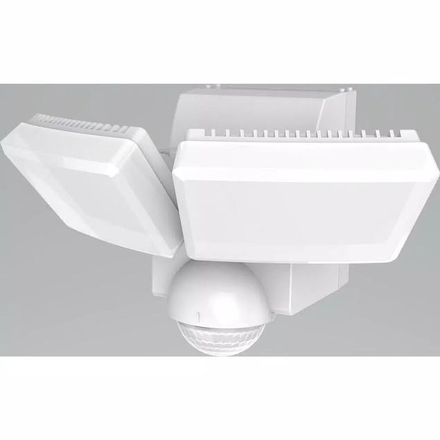 180-Degree White Twin Battery Motion Sensor Outdoor LED Lights w/ 800