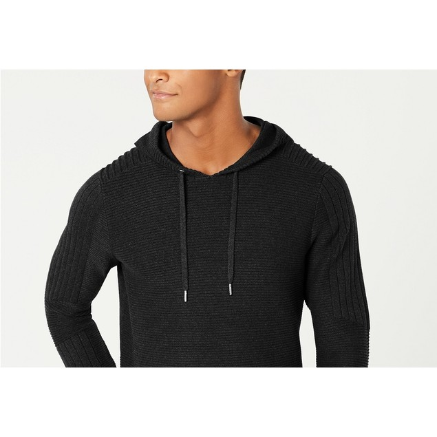 INC International Concepts Men's Hooded Sweater Black Size Small